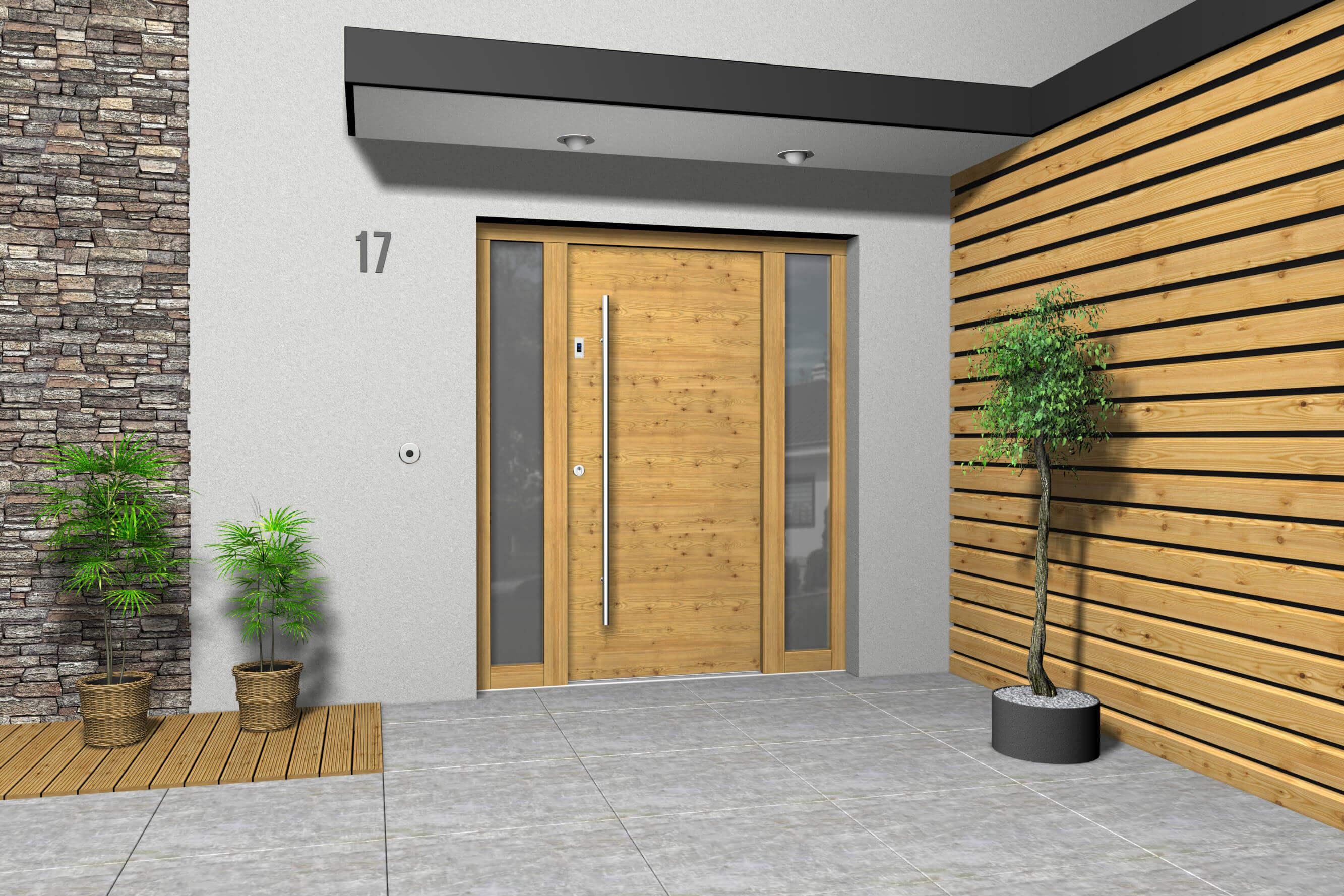 Haustüren holz mit seitenteil  Haustüren Holz Exclusiv - KS-Hausbau24
